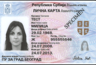 Foreign national identity card